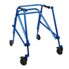 Fabrication Enterprises Klip Posterior Walker, Four Wheeled, Blue, Size  4 FNT 32-2089
