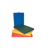 "Clean and Green: Fabrication Enterprises - CanDo® Mat with Handle - Center Fold - 2"" EnviroSafe® Foam with Cover - 4' x 4' - Specify Color"