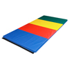 "Clean and Green: Fabrication Enterprises - CanDo® Accordion Mat - 2"" EnviroSafe® Foam with Cover - 4' x 10' - Rainbow Colors"