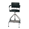 Fabrication Enterprises Adjustable High-Boy Whirlpool Chair With Belt, Rubber Tips FNT 42-1051
