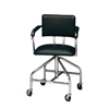 Fabrication Enterprises Adjustable Low-Boy Whirlpool Chair with Belt, 3 Casters FNT 42-1053