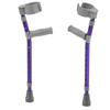 Fabrication Enterprises Pediatric Forearm Crutches, Pair, Small (15 To 22 Grip Height), Purple FNT 43-2067P