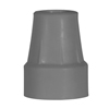 Fabrication Enterprises Forearm Crutch Tip, Gray. 1 Pair FNT 43-2071