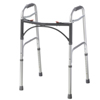 Fabrication Enterprises Folding 2-Button Walker, Adult, No Wheels, 1 Each FNT 43-2100