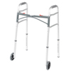 Fabrication Enterprises Folding 2-Button Walker, 5 Wheel-Glides, Junior, 1 Each FNT 43-2122