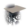 "Wheelchair Parts Accessories Trays: Fabrication Enterprises - Wheelchair Trays - Gray Plastic - 24"" W x 20"" D x 1/2"" H"