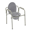 Rehabilitation: Fabrication Enterprises - Commode with Fixed Arms, Steel, Adjustable Height, x-Wide Bariatric, 1 Each