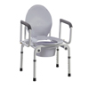 Fabrication Enterprises Commode with Drop Arms, Deluxe Steel, 19-23 Height, 1 Each FNT 43-2340