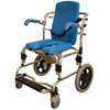 Fabrication Enterprises Baltic Professional Transport Shower/Commode Chair, Padded FNT 43-2380