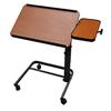 Fabrication Enterprises Acrobat Overbed Table, Adjustable Height, Tilt Top, Brown Maple FNT 43-2387