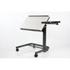 Fabrication Enterprises Acrobat Overbed Table, Adjustable Height, Tilt Top, White Birch FNT 43-2388