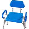 Fabrication Enterprises Liberty Folding Bath Chair, Swivel Seat, Padded Backrest and Armrests FNT 43-2392