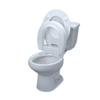 bathroom aids: Fabrication Enterprises - Elevated Toilet Seat , Hinged, Elongated
