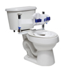 Fabrication Enterprises Columbia® Toilet Support - Low Back (Safety Belt & Reducer Ring) - Unpadded - Small FNT 45-2220