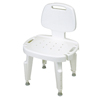 Fabrication Enterprises Adjustable Shower Seat with Back , No Arms FNT 45-2302