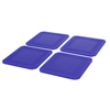 Fabrication Enterprises Dycem® Non-Slip Square Coasters, Set of 4, Blue FNT 50-1670B