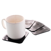 Fabrication Enterprises Dycem® Non-Slip Square Coasters, Set of 4, Black FNT 50-1670BLK
