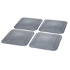Fabrication Enterprises Dycem® Non-Slip Square Coasters, Set of 4, Silver FNT 50-1670S