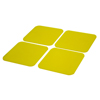 Fabrication Enterprises Dycem® Non-Slip Square Coasters, Set of 4, Yellow FNT 50-1670Y