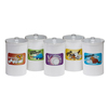 Fabrication Enterprises Clinton, Labeled Animal Pals, Opaque Plastic, Sundry Jars FNT 50-2015