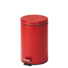 Fabrication Enterprises Clinton, Small Round Waste Receptacle, Red, 13 Quart FNT 50-2024