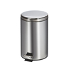 Fabrication Enterprises Clinton, Small Round Waste Receptacle. Stainless Steel, 13 Quart FNT 50-2025