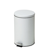Fabrication Enterprises Clinton, Small Round Waste Receptacle, White, 20 Quart FNT 50-2029