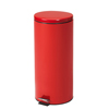 Fabrication Enterprises Clinton, Small Round Waste Receptacle, Red, 32 Quart FNT 50-2030