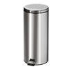 Fabrication Enterprises Clinton, Small Round Waste Receptacle. Stainless Steel, 32 Quart FNT 50-2031