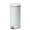 Fabrication Enterprises Clinton, Small Round Waste Receptacle, White, 32 Quart FNT 50-2032