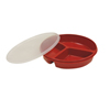 Fabrication Enterprises Partitioned Scoop Dish with Cover, Red, 8 FNT 62-0131