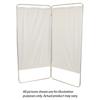 Fabrication Enterprises King Size 3-Panel Privacy Screen - White 6 Mil Vinyl, 85 W X 68 H Extended, 31 W X 68 H X2.5 D Folded FNT 65-0121W