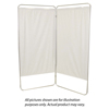 Fabrication Enterprises King Size 4-Panel Privacy Screen - White 6 mil Vinyl, 113 W x 68 H Extended, 31 W x 68 H x3.25 D Folded FNT 65-0122W