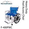 Fabrication Enterprises Aqua Creek®Pool Access Chair, 24 mesh seat, 425 lb capacity FNT 66-0008