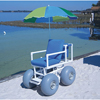 Rehabilitation: Fabrication Enterprises - Beach Access Chair, 4 Large Wheels, 300 Lb Capacity