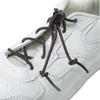 Rehabilitation: Fabrication Enterprises - Elastic Shoe Laces with Cord-Lock, Brown, 1 Pair
