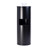 GoodEarth Black Stainless Steel Floor Stand Wipe Dispenser with Built-in Trash Receptacle GDE19219