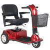 Golden Companion Midsize 3-Wheel Luxury Mobility Scooter GDX GC240-RED