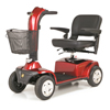 Golden Companion Full-Size 4-Wheel Luxury Mobility Scooter with White Glove Delivery GDX GC440C-RED-WHITEGLOVE