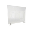 Ghent Ghent Desktop Free Standing Plastic Protection Screen GHE DPSC2429F