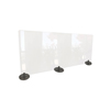 Ghent Ghent Desktop Free Standing Plastic Protection Screen GHE DPSC2459F