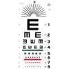 GF Health Illiterate/Tumbling E Eye Chart GHI1241
