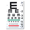 GF Health Illiterate/Tumbling E Eye Chart GHI 1262