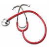 GF Health Single Head Stethoscope, Red GHI 300DLX-R
