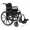 GF Health Traveler® L4 Wheelchair, 18 x 16 Adjustable Height Desk Arm, Elevating Legrest, Quick Release Wheels GHI 3F020170