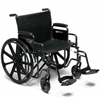 "GF Health: GF Health - Traveler® HD Wheelchair, 24"" x 18"" Detachable Full Arm, Elevating Legrest"