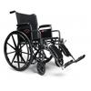 GF Health Advantage 18 x 16 Wheelchair, Vinyl, FIxed Full Arm, Elevating Legrest GHI 3H011110