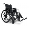 "Rehabilitation: GF Health - Advantage 18"" x 16"" Wheelchair, Vinyl, Detachable Desk Arm, Swingaway Footrest"