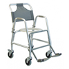 GF Health Deluxe Shower Transport Chair with Footrests GHI 7915A-1