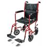 GF Health Lightweight Aluminum Transport Chair, 19, Red GHI EJ782-1